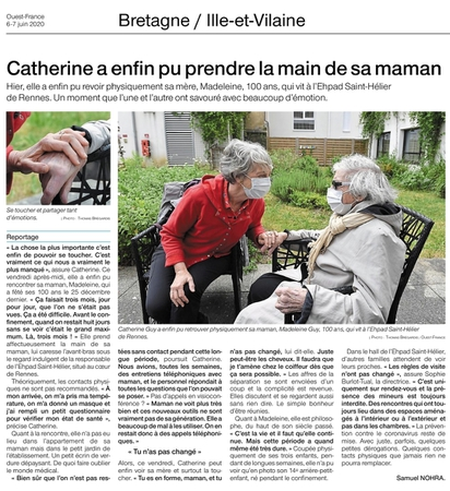 article ouest-france 07062020